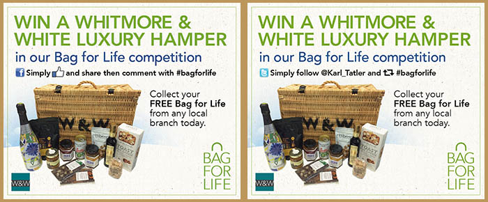 Here's the images to look out for on Facebook and Twitter with our Bag for Life giveaway