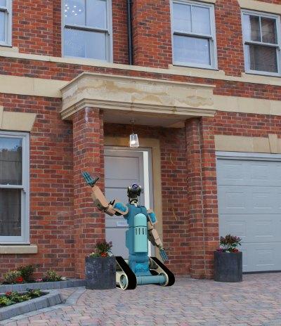 Show-Bot at door