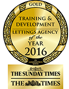 Training & Development Lettings Agency of the Year 2016 GOLD award