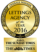 Overall Winner Lettings Agency of the Year 2016 award
