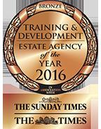 Training & Development Estate Agency of the Year BRONZE award