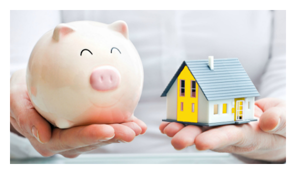 Rental investment piggy bank image
