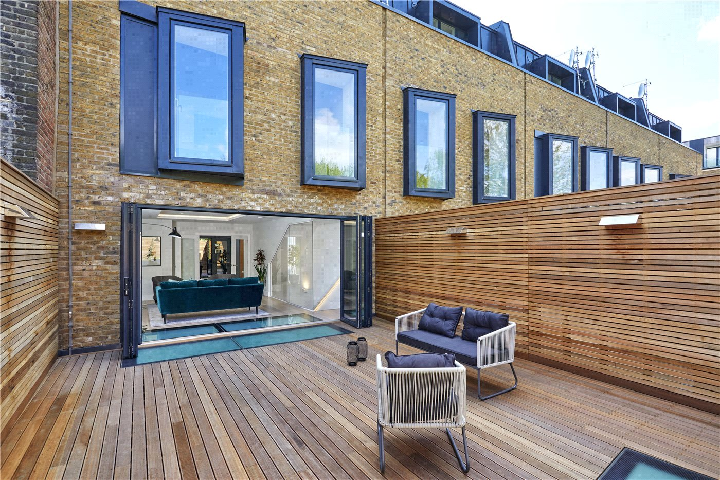 Modern town houses in East Dulwich