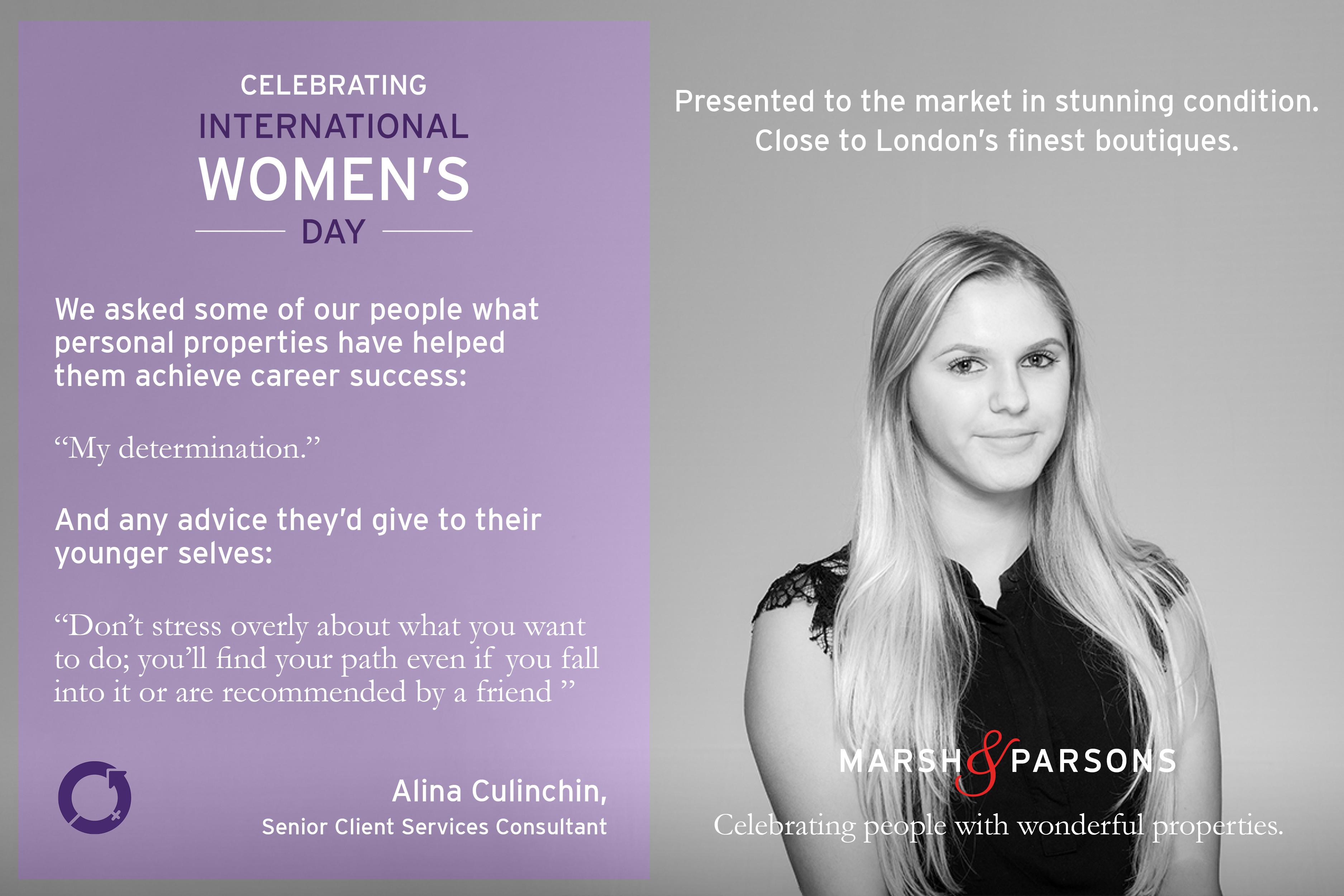 Alina, International Women's Day