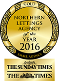 Northern Lettings Agency of the Year GOLD award
