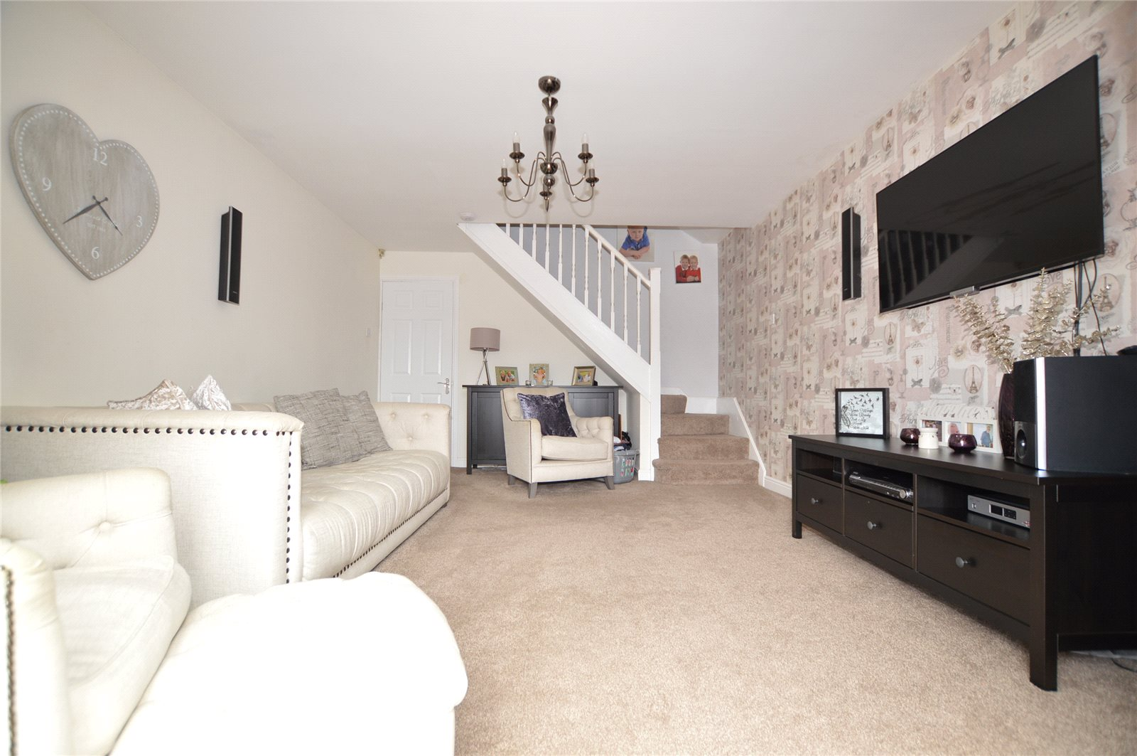 living room property for sale in morley, white decor, spacious room